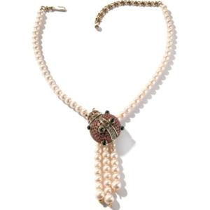 "Heidi Daus Ladybug Necklace 16-1/2""L"